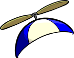 Blue Propeller Cap