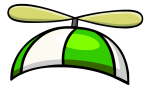 Green Propeller Hat