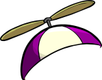 Purple Propeller cap